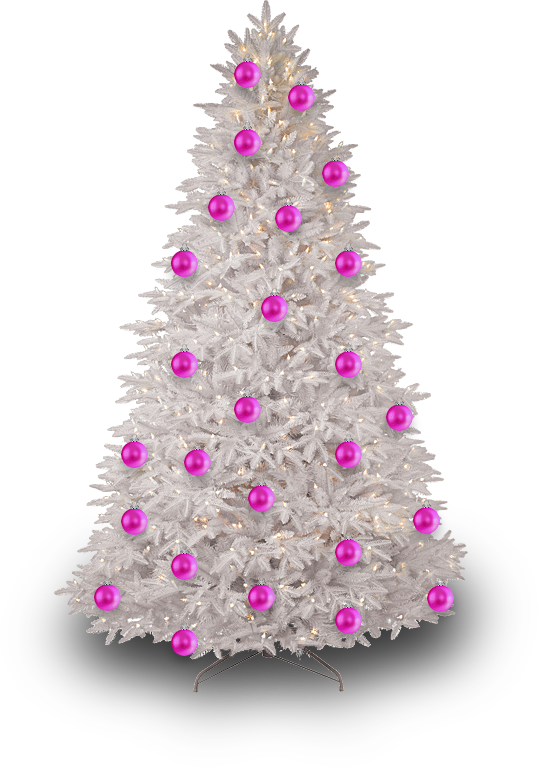 Pink christmas ornament png. Tree by dbszabo on