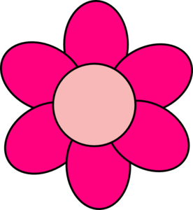 Pink clipart. Flower clip art at