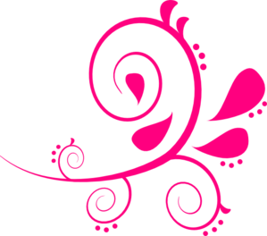 Pink clipart. Swirl paisley clip art
