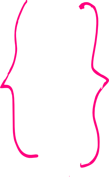 Bracket image png. Pink curly smaller clip