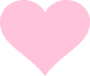 heart, png pale pink
