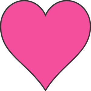 Pink clipart heart. Free