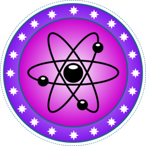 Transparent science symbol. Nuclear clip art at