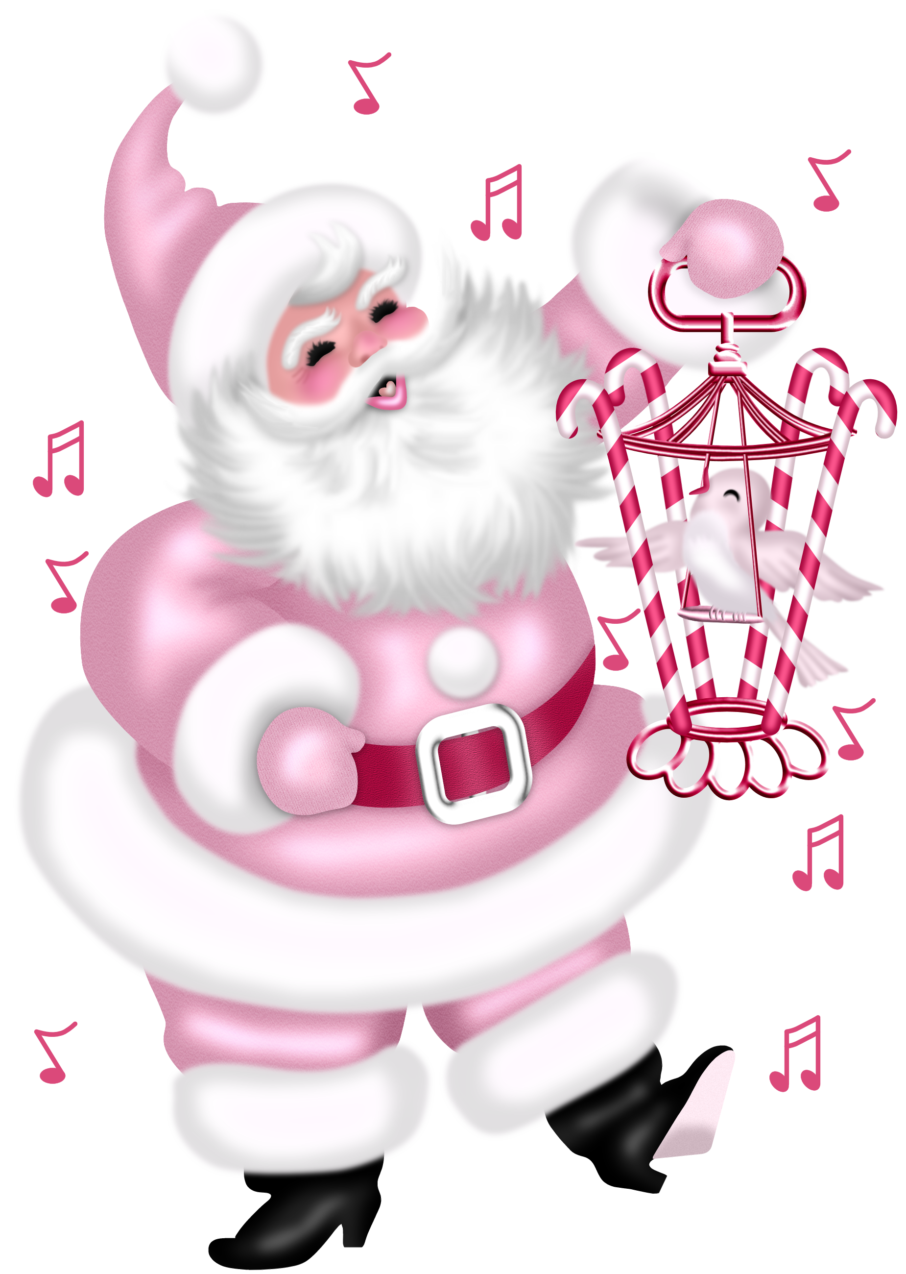 merry christmas clipart pink