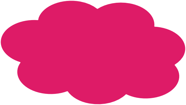Pink cloud png. Clip art at clker