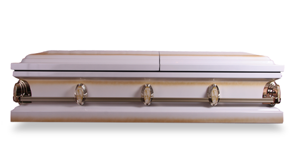 Transparent coffin side. Funeral packages for south