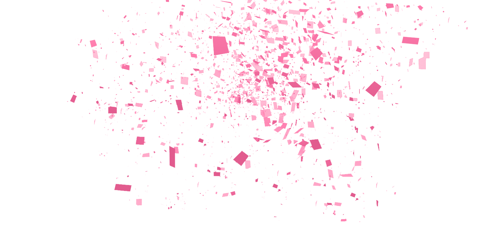 Pink confetti png. Green bay barb s