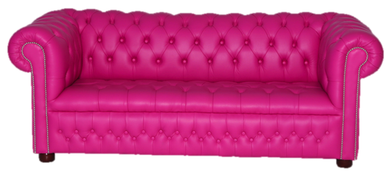 Pink couch png. Lovely fuschia sofa for