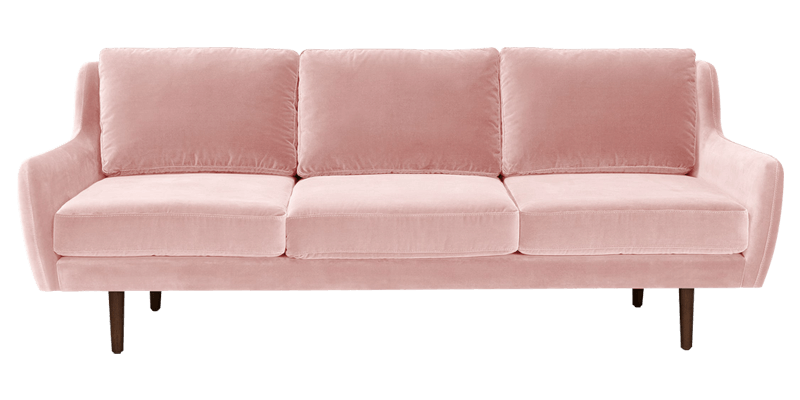 Pink couch png. Faux suede seater sofa