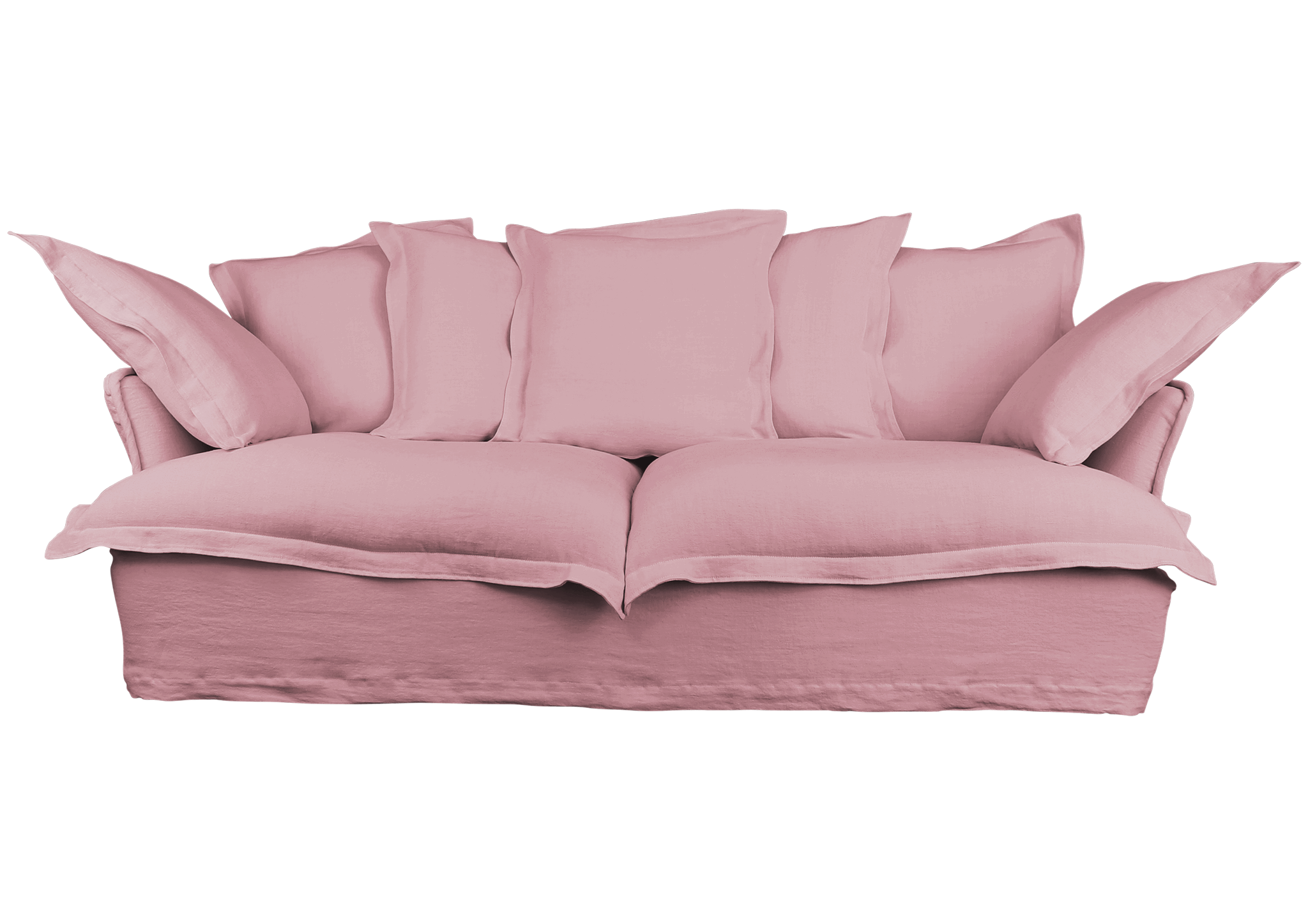 Pink couch png. Comfortable sofas linen cotton
