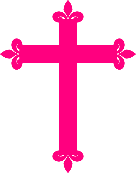 Pink cross png. Hot clipart