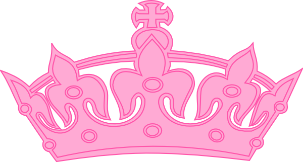 Pink clip art at. Crown clipart princess crown svg black and white stock