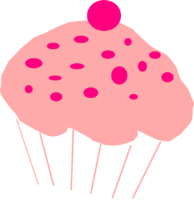 Pink cupcake png. Clip art at clker