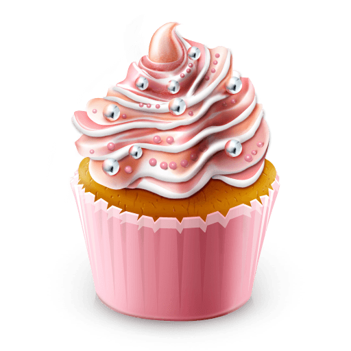 Pink cupcake png. Illustration transparent stickpng