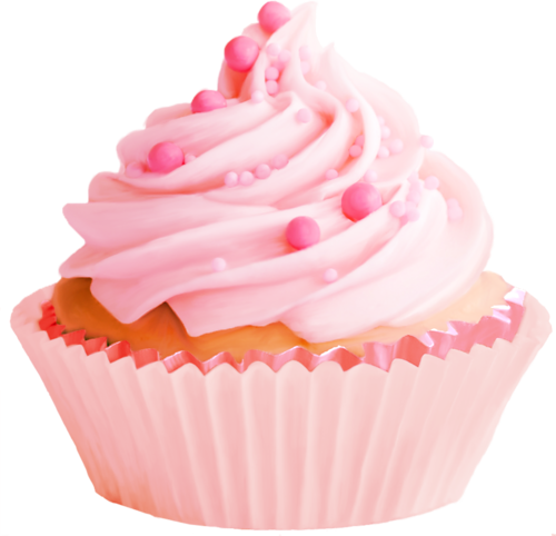Pink cupcakes png. Food by byeny on