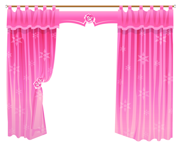 Pink curtain png. Curtains transparent clipart clip
