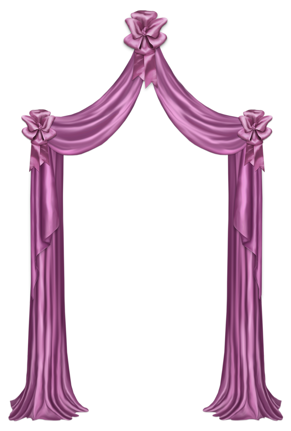 Pink decor png picture. Curtain clipart cute banner royalty free