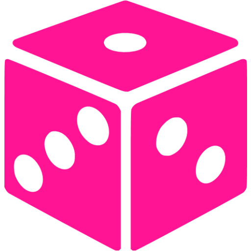 Pink dice png. Deep icon free gamble