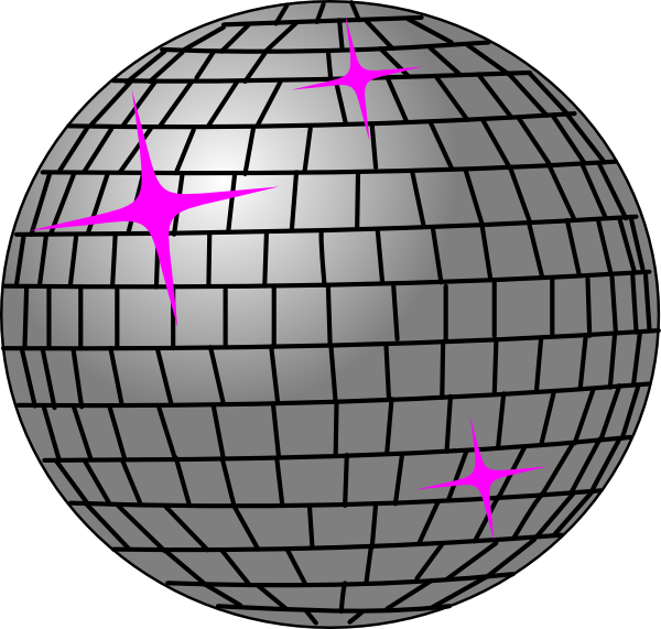 Pink disco ball png. And silver clip art