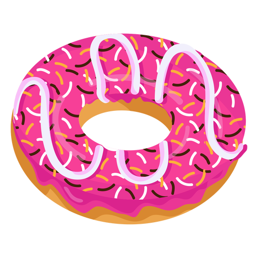 Pink donut png. Glaze doughnut with sprinkles