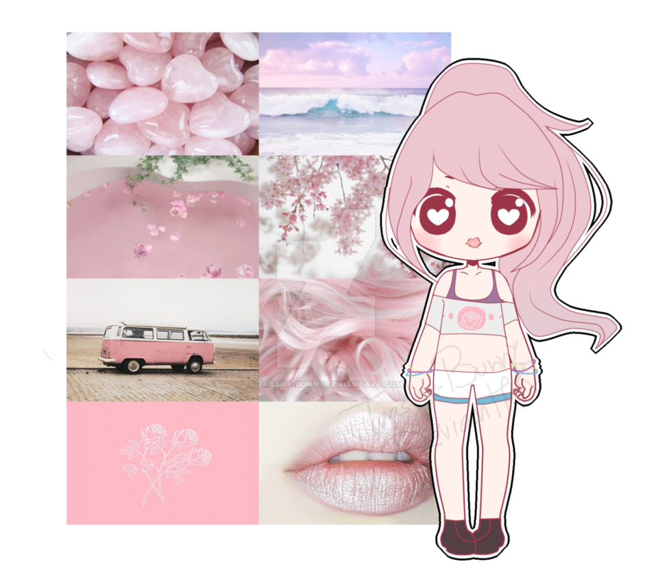 Pink drawing aesthetic. Board adopt by trashy