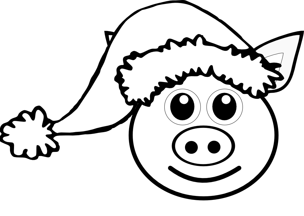 Pink drawing black and white. Pig at getdrawings com