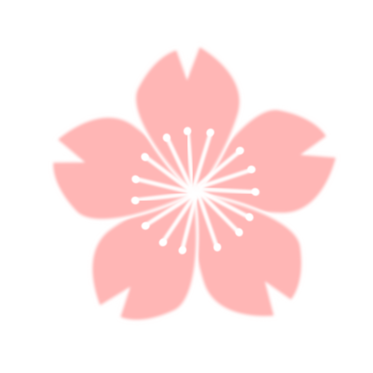 Pink drawing cherry blossom. Flower free commercial clipart