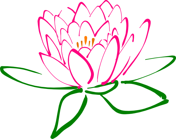 Pink drawing lotus flower. Free spa clipart images