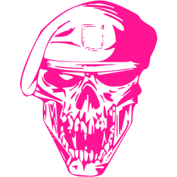 Pink drawing skull. Deep icon free icons