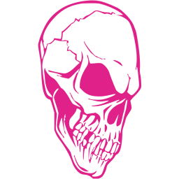Pink drawing skull. Barbie icon free icons