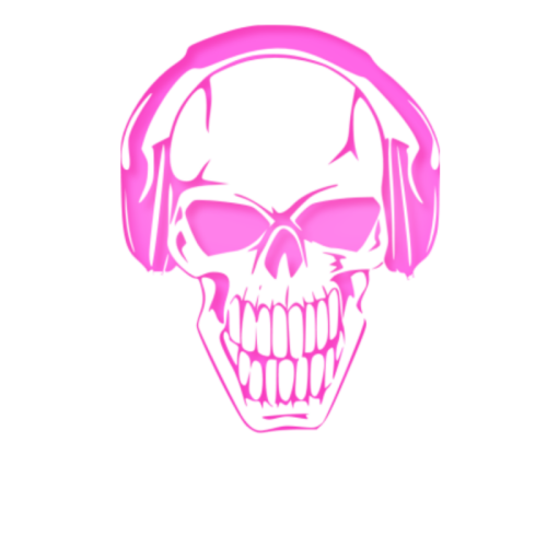 Pink drawing skull. Hot by musique inktale