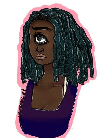 Pink dreads png. Teal dreadlocks tumblr insert