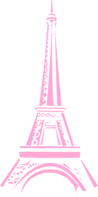 pink eiffel tower png