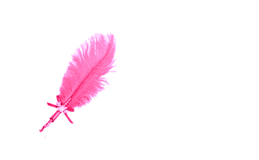 Pink feather png. Glitter graphics the community