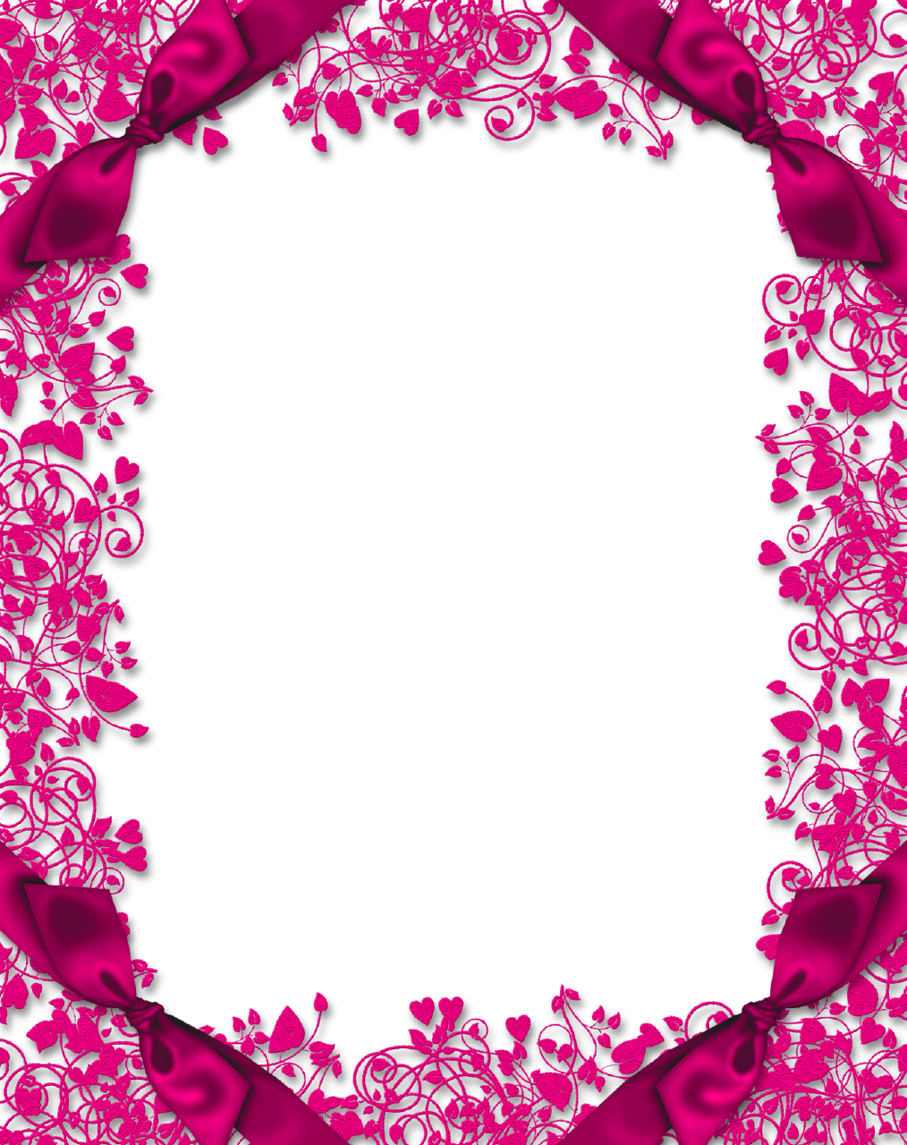 Pink floral border png. High quality image arts