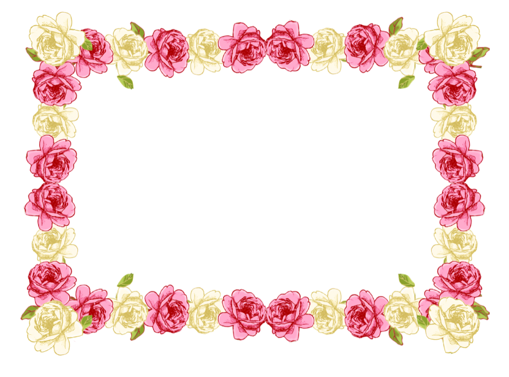 Pink floral border png. Image with transparent background
