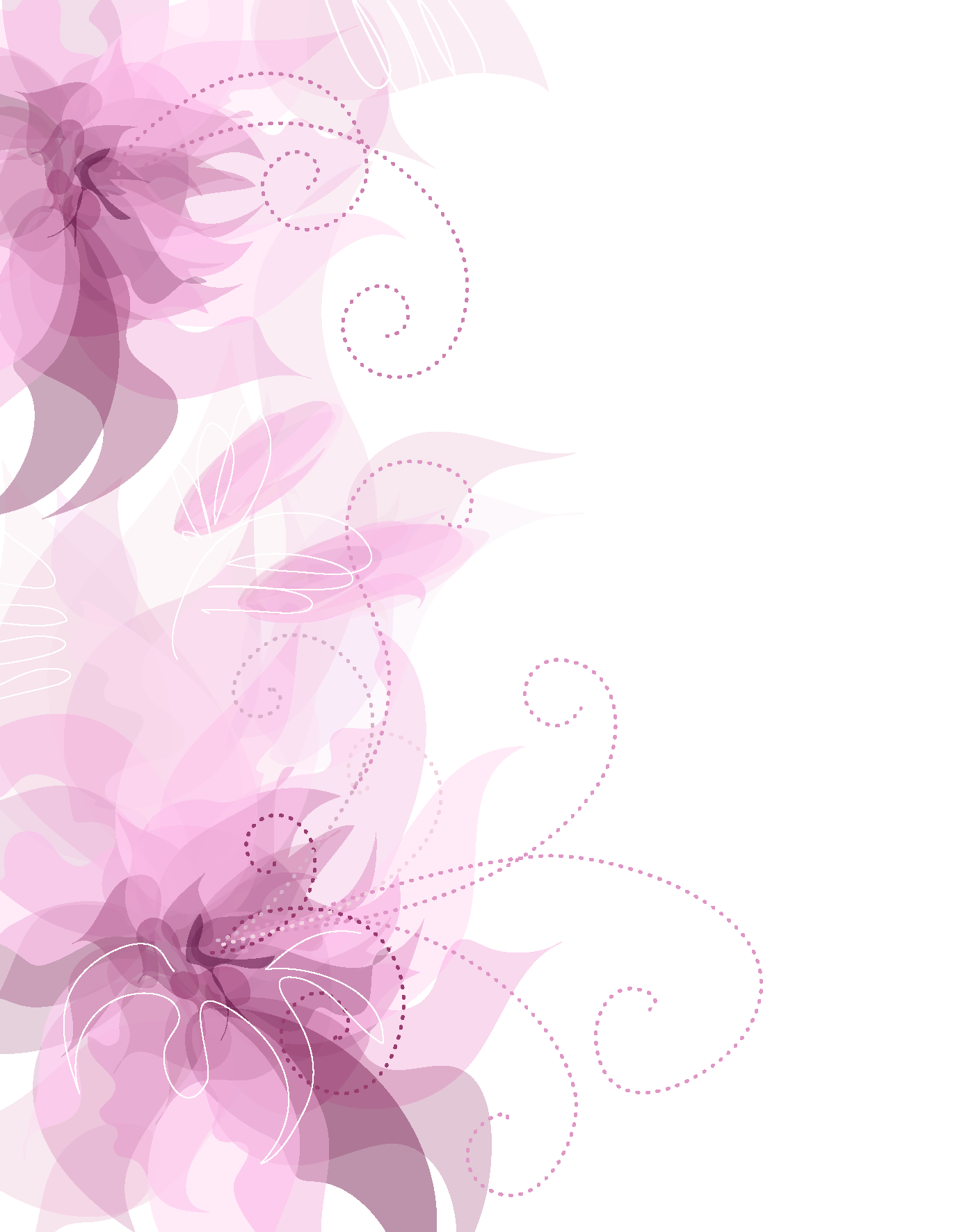 Pink floral png. Cute decoration transparent clipart