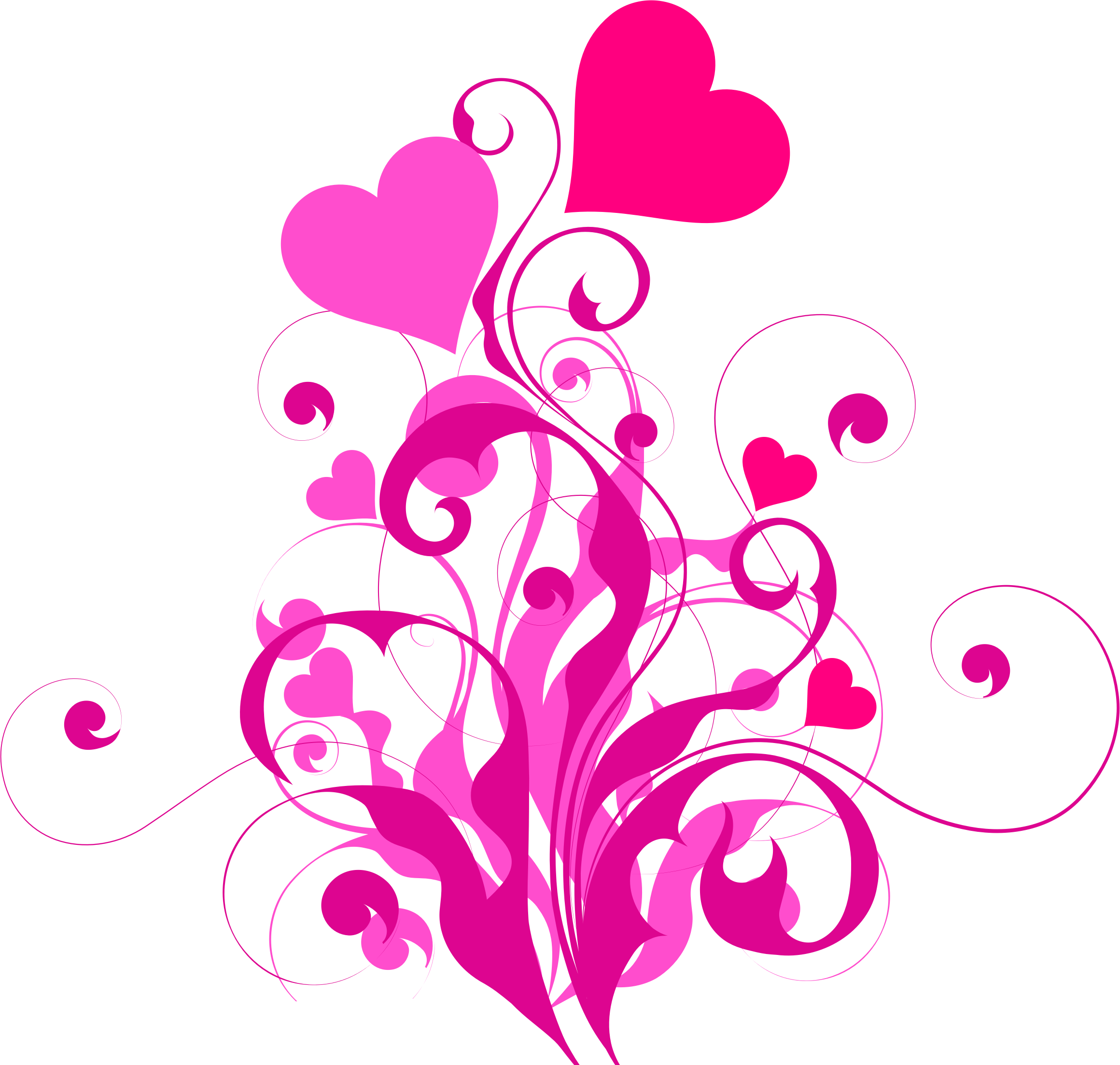 Pink flourish png. Heart icons free and