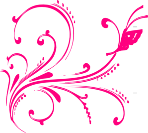 Pink flourish png. Butterfly clip art at