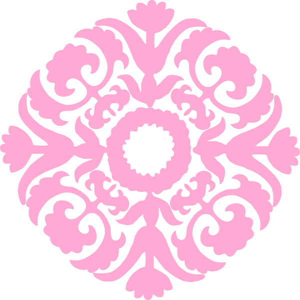 Pink flourish png. Light damask clip art