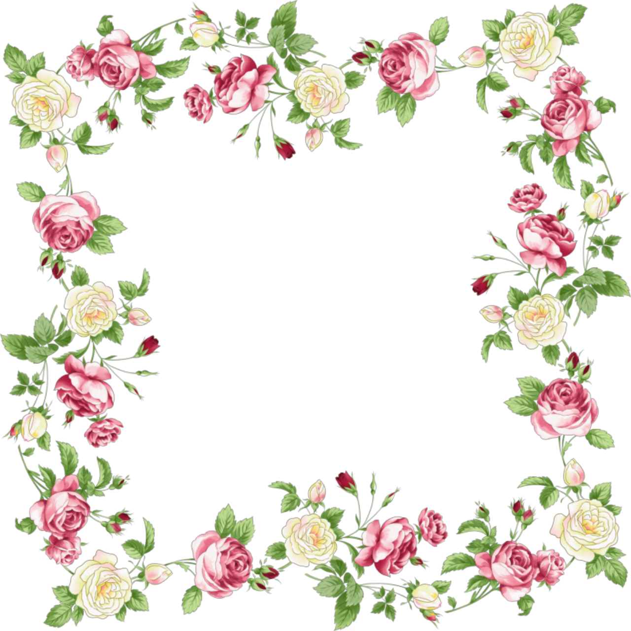 Pink flower border png. Frames and borders google