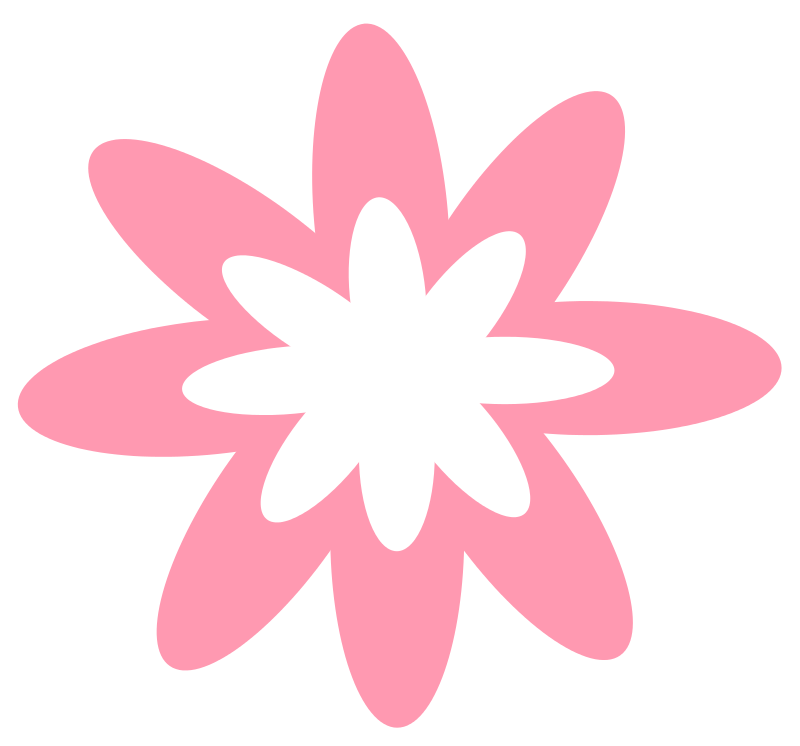 Pink flower clipart png. Free download clip art