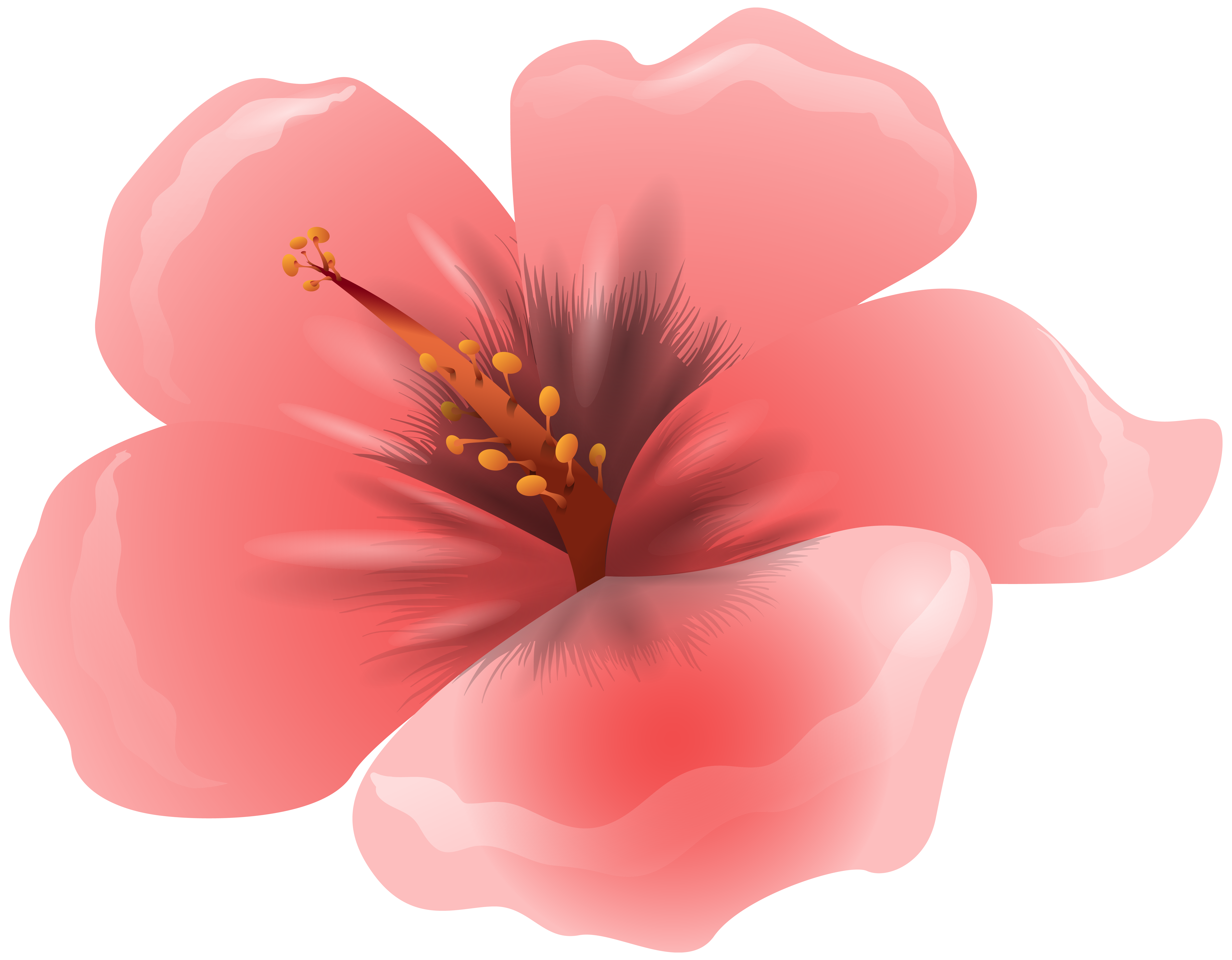 Pink flower clipart png. Large image gallery yopriceville