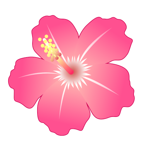 Pink flower emoji png. Hibiscus for facebook email