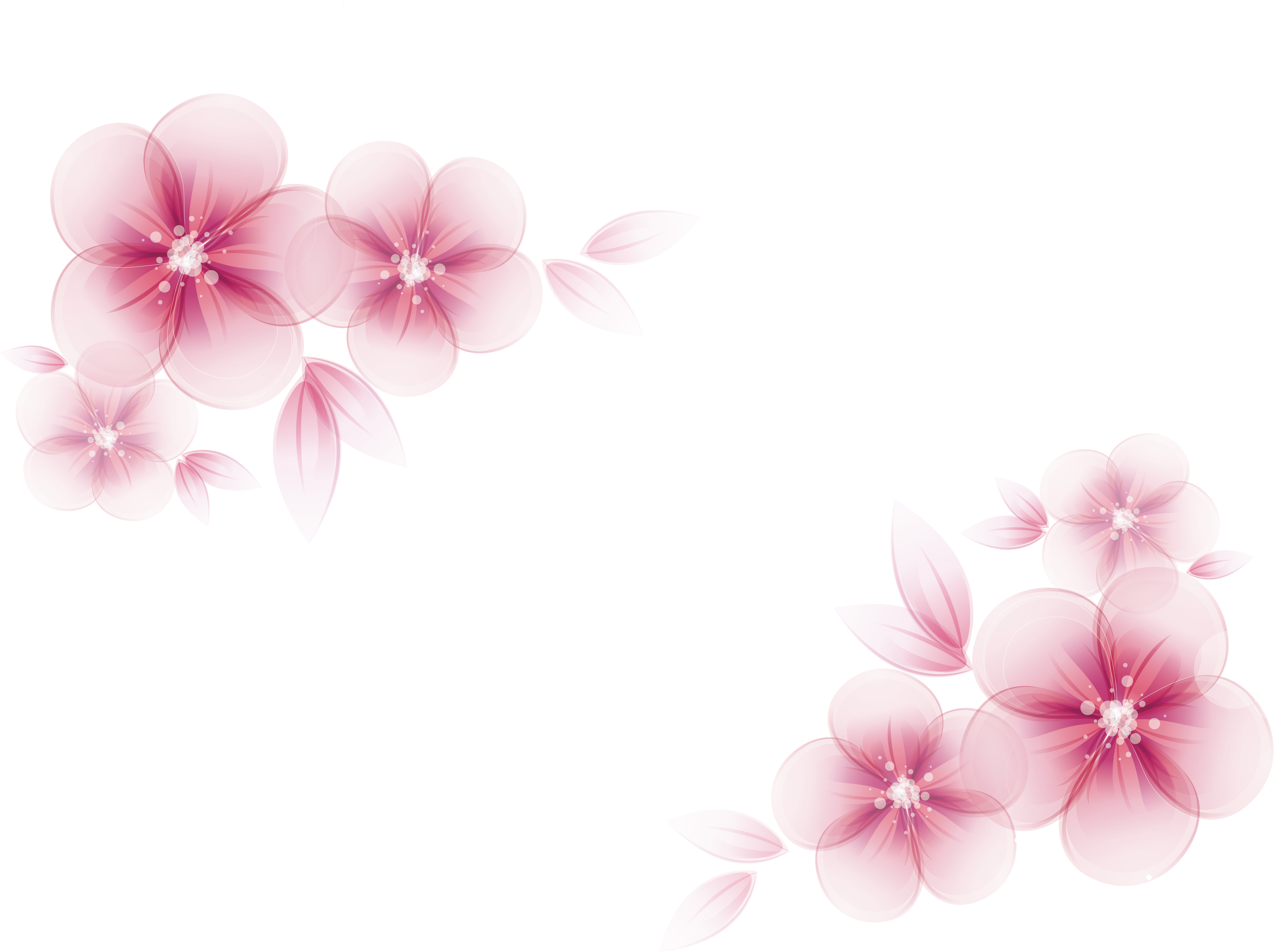Pink flower vector png. Watercolor painting creative flowers