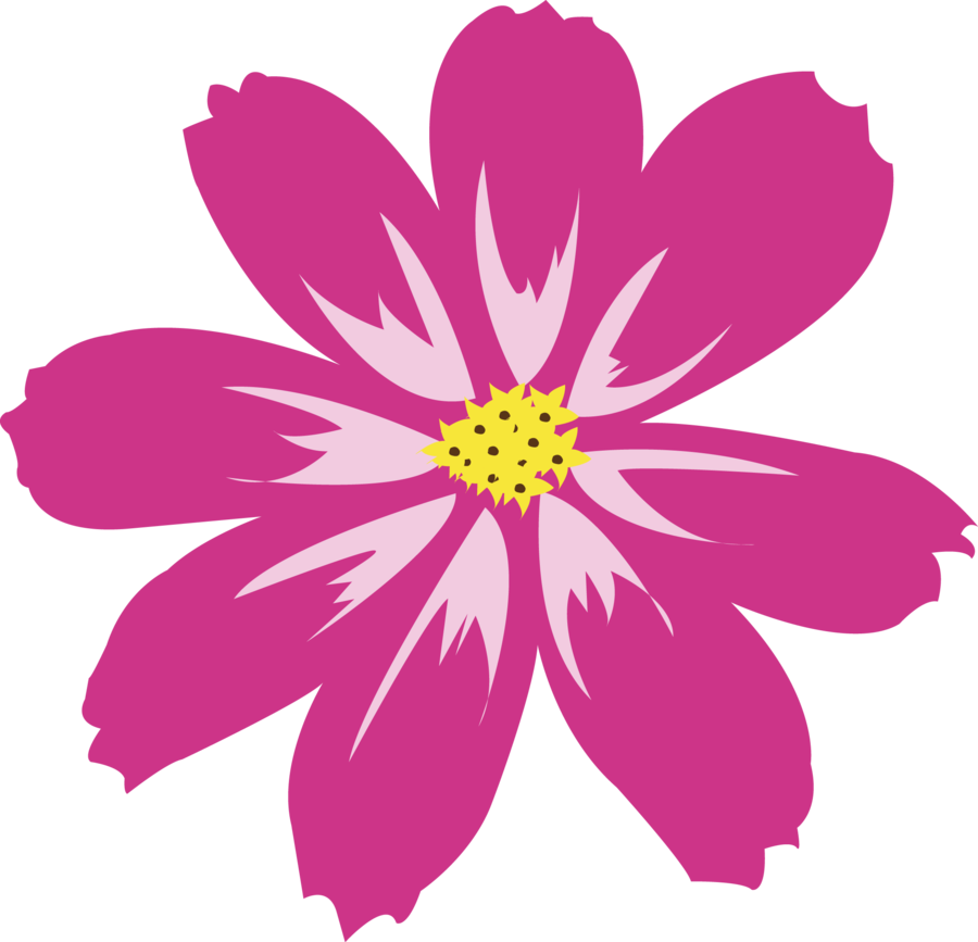 Pink flower vector png. Aster amellus by petermarge
