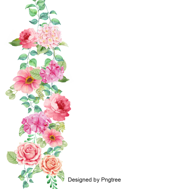 Pink flowers border png. Flower vector corner pansy
