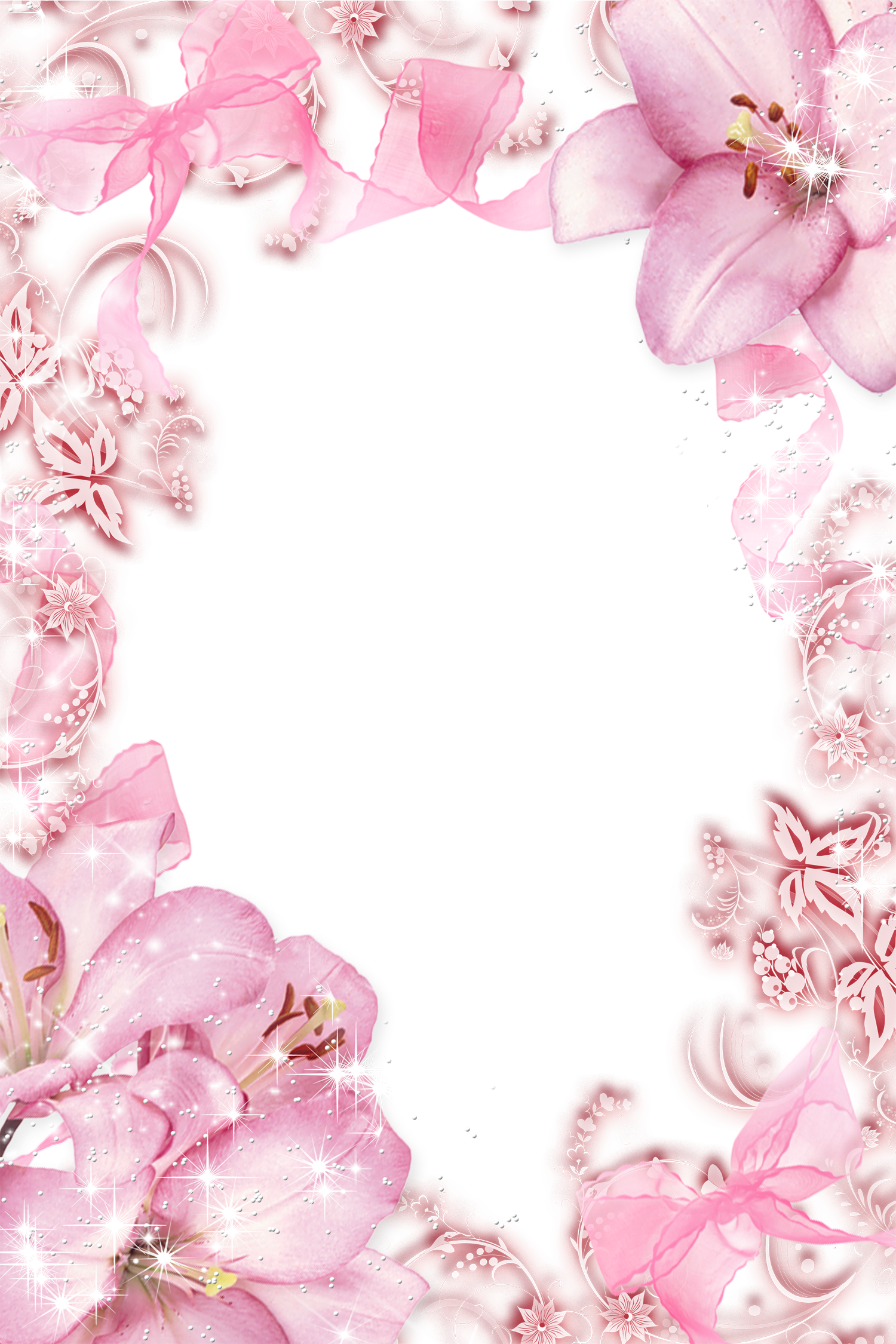 Pink flowers border png. Transparent photo frame wallpapers