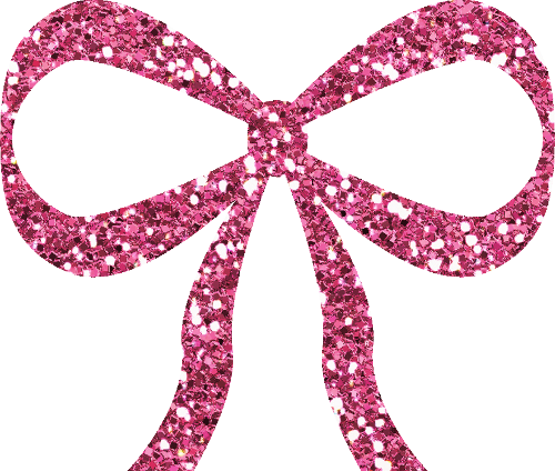 Pink glitter number 5 png. Bow by clipartcotttage on