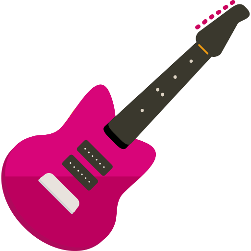 Pink guitar png. Bass icon repo free